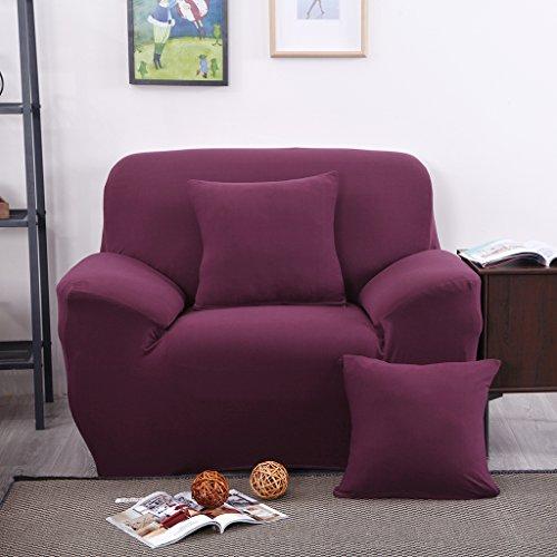 SM SunniMix Sofabezug Sofahusse Sesselbezug Sitzbezug Sesselüberwurf Stretchhusse für Einzel Sofa Couch - Rot 1