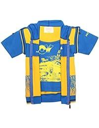 TONYBOY Boys Stylish Printed Jacket (BlueYellow)