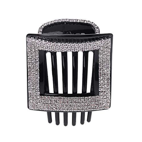 Cuigu Strass Hair Claw, Quadratische Haarspangen Acryl Haar Kamm Schöne Hairgrips Headwear Haarschmuck Für Frauen, 4,8 × 6,5 cm