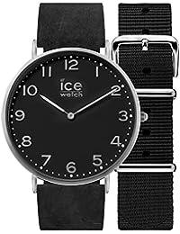 Ice-Watch - CITY Barrow - Schwarze Herrenuhr mit Lederarmband + zusätzliches Nylonband - 001357 (Medium)