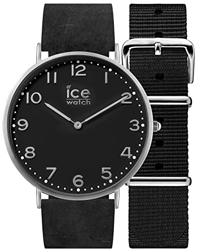 Ice-Watch - CITY Barrow - Men's (Unisex) wristwatch with leather strap + extra nylon strap - 001357 (Medium)