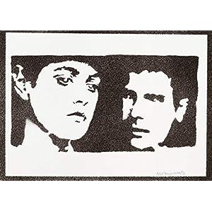 Blade Runner Poster Rachael und Rick Plakat Handmade Graffiti Street Art – Artwork