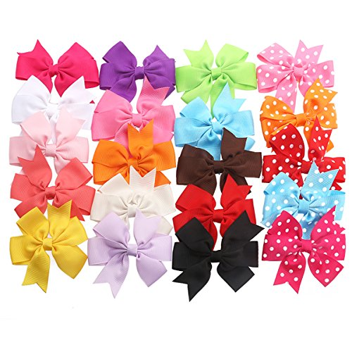 tinksky-ribbon-bows-with-alligator-clips-20-different-bows-in-15-solid-colors-and-5-polka-dot-patter