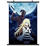 KroY PecoeD Anime Angels of Death Scroll Poster, Anime Cartoon Charakter Poster wasserdichtes Tuch...