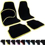 Universal Auto Fußmatten Teppich Matten Autoteppiche Stoffmatten Colori Gelb AM7138