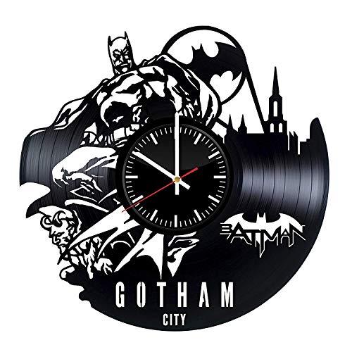 LKCAK Vinyl-Wanduhr - Superheld Original Geschenk Für Die Fans des Films - Wandkunst Raumdekor Handgemachte Dekoration Party Supplies Thema Geburtstagsgeschenk