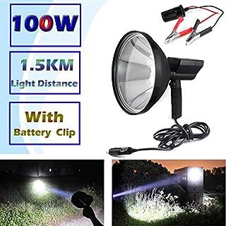 Jagd Taschenlampen 1,5km Long Distance Wiederaufladbare Handheld Spotlight Stockfleck Shooting Lampe KFZ 12V Zigarette Tragbare HID Searchlight 100W 6000K 8000Lm Super Hell