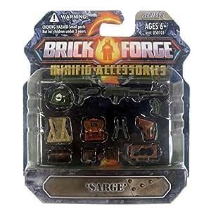 Custom Brique Forge WW2 Set Sarge avec Armes Sac à dos pour par exemple LEGO ® Figurines Série 1