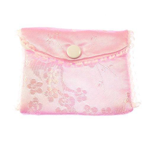 Rosa stoff bestickt rosenkranz handtasche tasche kopf ohrstecker verschluss 8cm silky (Rosa Bestickte Handtasche)