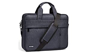 HOMIEE 15-17 Inch Laptop Shoulder Bag, Protective Laptop Bag Waterproof Business Briefcases for Men & Women, Fits for MacBook Pro, MacBook Air, iPad Pro, Dell XPS, Lenovo, HP, Chromebook and Laptop up to 17 Inch