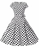GIKING Women's Vintage Hepburn Cocktail Dress Bridesmaid 1950s Swing Party Dress