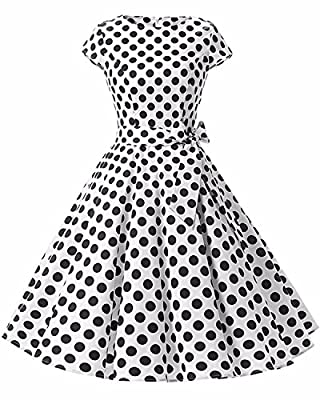GIKING Women's Vintage Hepburn Cocktail Dress Bridesmaid 1950s Swing Party Dress