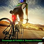 Volcano-Eye-Fanale-Posteriore-per-Bici-Set-di-2-Luci-LED-per-Bicicletta-7-modalit-di-Illuminazione-Ricaricabile-IPX4-Impermeabile-Sicurezza-per-Ciclismo-Montagna-Casco-RossoVerdeBlu