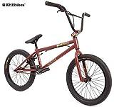 KHE BMX Fahrrad CENTRIX 20 Zoll patentierter Affix 360° Rotor nur 10,5kg! schwarz-anthrazit rot-braun (rot-braun)