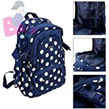 Baby Grow Colorland Large Capacity Multi Functional Backpack Nappy Bag/Diaper Bags (Blue Dots)
