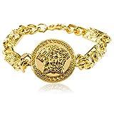 ORKST Medusa 18k Gold Legierung Armband Männer und Frauen Schmuck Zubehör Kettenlänge 21cm
