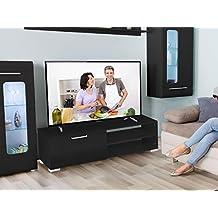 Mueble para TV Viola en MDF lacada negro