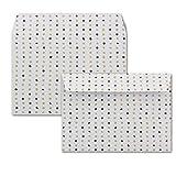25x Briefumschläge mit farbigen Punkten | DIN C6 |Farbe: Weiß (mit farbigen Punkten) | Haftklebung mit Abziehstreifen | 114 x 162 mm | 80 g/m² | Marke: GUSTAV NEUSER®