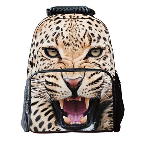 WUZHENG Unisex Schulrucksack Taschen 3D Animal Print Filz Stoff Wandern Daypacks,Tiger - Tiger-print-stoff