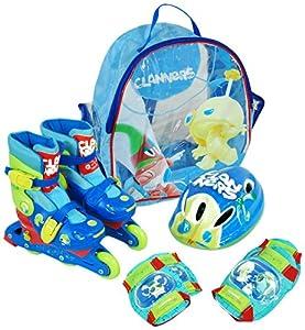 Clanners - Set de Patines transformables en línea Chico, Talla 28-31 (Saica Toys 8969)