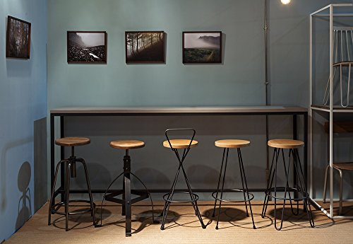 Sgabelli Ferro Vintage : Sgabello bar debbie new vintage marrone in ecopelle struttura