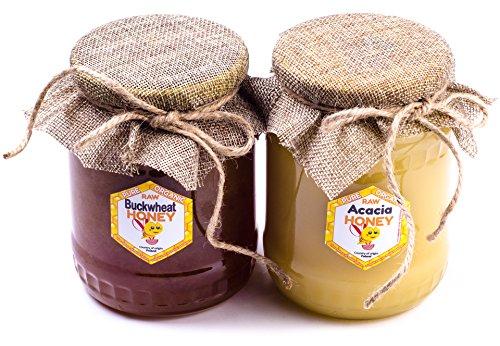 Miel directement de l'apiculteur polonais. 2 pack. 2 kg. Frais 2016. Le miel d'acacia & sarrasin pur. Miel de la Pologne.