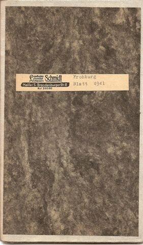 Topographische Karte Frohburg / Sachsen 1:25.000. Blatt 4941