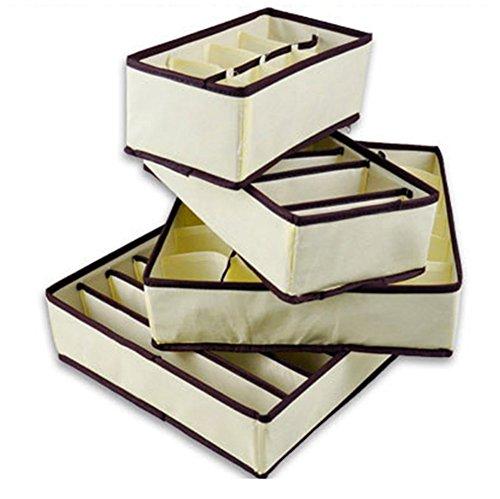 Cosanter Aufbewahrungsbox für den Kleiderschrank - Schöner Schrankkorb - für Schrank- und Kommodenschubladen,4 Stück/set