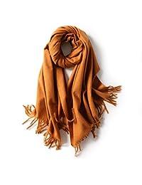 1fb2f5651b00 Shawl Mme Écharpe Automne Et Hiver Mélange Écharpe en Cachemire Femelle  Couleur Unie Gland Châle Version