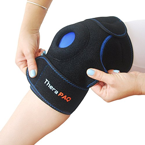 8eecbf9605 Knee Ice Pack Wrap By TheraPAQ: Hot & Cold Therapy Knee Support Brace -  Adjustable