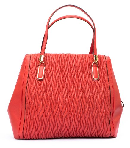 Coach Madison North/South Satchel in Gathered Twist Leather 25984 - Liver