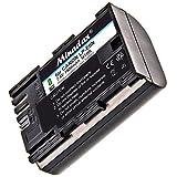 Minadax Qualitätsakku mit echten 1900 mAh kompatibel mit Canon EOS 6D Mark II 80D 7D Mark II, Ersatz für LP-E6N - Intelligentes Akkusystem mit Chip
