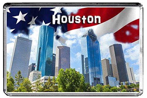 USA E311 Houston KÜHLSCHRANKMAGNET Travel Photo Refrigerator Magnet