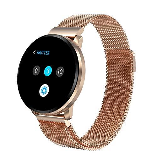 ERTO Smartwatch Fitness Tracker Armband Uhr SchrittzäHler Uhren Smart Watch Herzfrequenz Voller Touchscreen-Betrieb 1,22 Zoll Low-Power-Herzfrequenz-Blutdruck-Vibration Schnellladung Stoppuhr Weathe