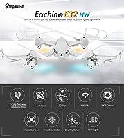 EACHINE E32HW WiFi FPV RC Quadcopter Drone With 720P HD Camera Altitude Hold RTF Black