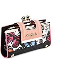 Sally Young Lady Women Retro Purses Floral Butterfly Pattern Buckle Wallets Card Holder Bag Gifts