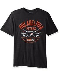 """Philadelphia Flyers CCM NHL """"Even Strength"""" Tri-Blend Men's Short Sleeve T-Shirt Chemise"""
