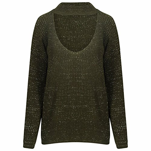 comfiestyle-pull-pull-manches-longues-femme-vert-taille-unique