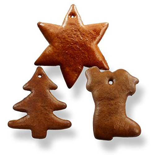 Preisvergleich Produktbild Lebkuchen Rohlinge als Set,  je 5x Stern,  Tannenbaum und Nikolaus Schuh - Ein Spaß für Jung und Alt bietet die Selbst Verzierung,  wunderbar als Baumschmuck