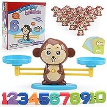 Eupaja Puzzle Balance Toy Balance Monkey Cool Math Game Addition and Subtraction Balance Game Preschool Teaching Props