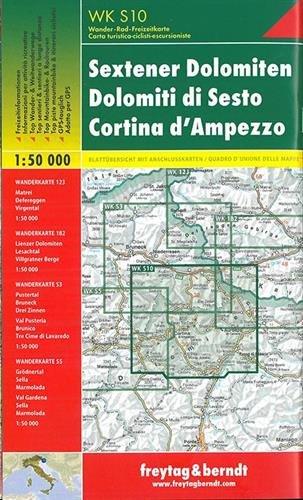 Preisvergleich Produktbild Sextener Dolomiten - Cortina d'Ampezzo, Wanderkarte 1:50.000, WKS 10, freytag & berndt Wander-Rad-Freizeitkarten
