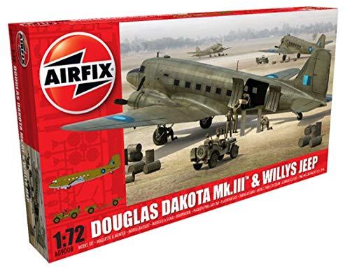 Airfix A09008 - Modellbausatz Douglas Dakota MkIII with Willys Jeep