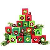 Papierdrachen 24 Adventskalender Kisten - mit Zahlenaufklebern zum selber Befüllen - 24 bunte Schachteln zum Aufstellen und zum Befüllen - 24 Boxen