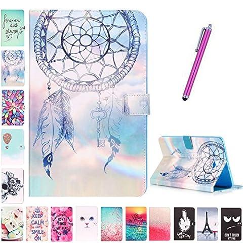 Coque Tablette 9 Pouces - Romtronic Cute Colorful Design Flip Housse PU