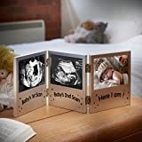 VonHaus Triple Baby Scan Ultrasound Photo Frame / Baby Gift Bild 1