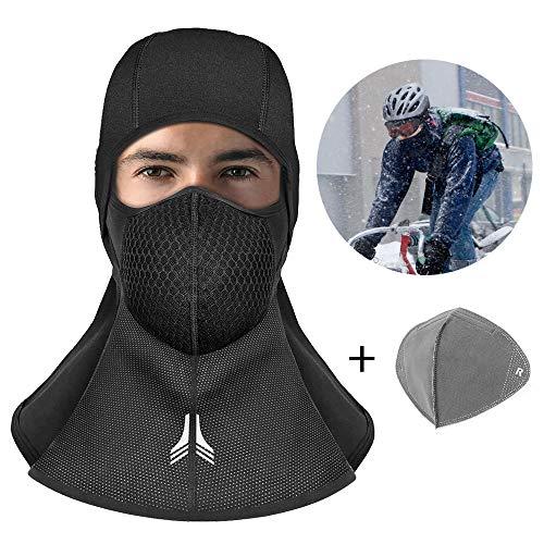 Passamontagna Moto, innislink Balaclava Moto Maschera Sci Snowboard berretto Antivento Bici Mask bicicletta copricapo invernale Termico A Prova di Vento sciarpa maschera Universali - Nero