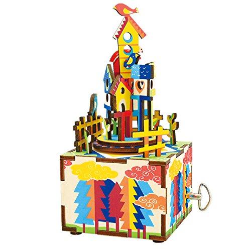 Happy Cherry 32 Pezzi Puzzle 3D - Musica in legno Box - regalo fai da te