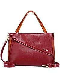 Large Tote Bag For Women Genuine Leather Designer Ladies Handbags Purses Shoulder Bags By Realer - B0756GZGDS