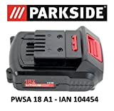 Batterie Parkside 18V 1,5Ah PAP 18–1,5A1pour PWSA 18A1–IAN 104454,...
