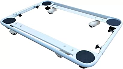 UNOMAX IFB Universal FRONT LOAD / LOADING Washing Machine Stand / Trolley / Floor Stand / Base Stand / Movable Stand With Wheels For LG, Samsung, Whirlpool, Godrej, IFB, Bosch, Panasonic, Onida, Videocon, Haier, Intex, BPL & Electrolux For Sizes 5kg, 5.2kg, 5.5kg, 5.8kg, 6kg, 6.2kg, 6.5kg, 6.8kg, 7kg, 7.2kg, 7.5kg, 7.8kg, 8kg, 8.2kg and 8.5kg (Stand Dimension: Length: 24 inches, Breadth: 17 inches to 21 inches ADJUSTABLE) Washing Machine Trolley